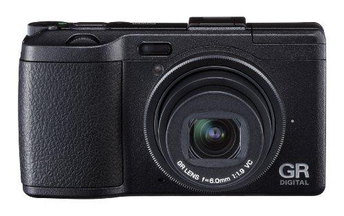 Ricoh GR Digital IV Digitalkamera (10 Megapixel, 4-fach digitaler Zoom, 7,6 cm (3 Zoll) Display, bildstabilisiert) schwarz