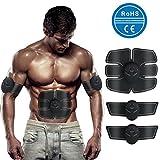 AOOPOO Elektrische Muskelsimulator USB Trainingsgerät Muskelaufbau Gerät EMS-Trainer Bauch Arm Massage Elektrische Stimulatoren für Männer Damen CE, RoHS-Zertifiziert