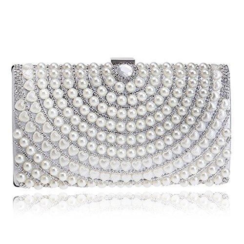 TuTu Damen Taschen PU Polyester Abendtasche Strass Perle Detaillierung für Hochzeit Event / Party Formal Alle Jahreszeiten , silver