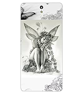 ColourCraft Butterfly Girl Design Back Case Cover for SONY XPERIA C5 ULTRA