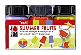 Marabu 171600098 Textilfarben Set, Summer Fruits, 3 x 15 ml