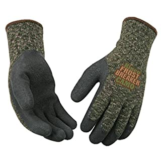 Kinco International 1788-L Frost Breaker Work Gloves, Thermal, Latex Palm, Camouflage, Large - Quantity 12