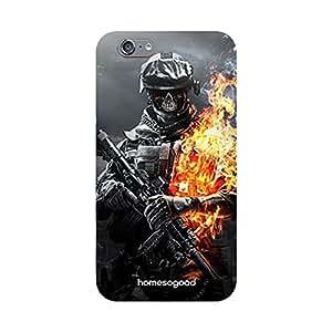 HomeSoGood Skeletal Military Grey 3D Mobile Case For iPhone 6 (Back Cover)