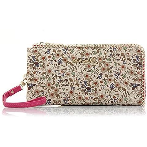 borsa floreale/Ladies zip around portafoglio borsa/Sacchetto