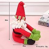 DAMENGXIANG Eine Weihnachtsschmuck Weihnachtsmann Weinflasche Tasche für Neujahr Weihnachten Home Dinner Party Decor Weihnachtsmann