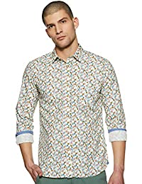 Parx Men's Printed Regular fit Casual Shirt