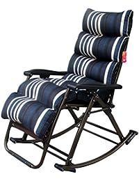 DS Chaise longue Fauteuils inclinables lavables Coussin épais pliant  Portable Bureau Pause déjeuner Siesta Balcon Chambre 2c834395bdf1