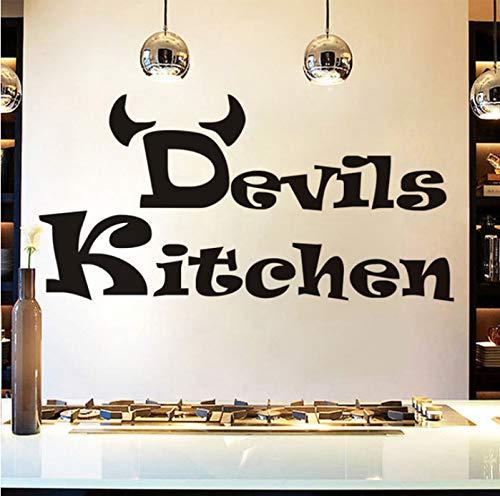 Wiwhy Günstige Einfache Design Teufel Wandaufkleber Küche Zimmer Dekoration Diy Vinyl Adesivo De Paredes Home Decals Kunst Poster Papiere