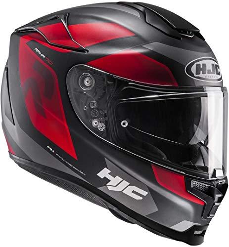 Motorradhelm HJC RPHA 70 mit Sonnenblende SPORTHELM, MC1SF - schwarz/rot/matt, XXS