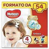 Huggies Pannolini Ultra Comfort, Taglia 4 (7-18 kg), Confezione da 54 Pannolini