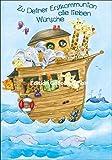 Glückwunschkarte zur Erstkommunion * Tiere auf der Arche Noah * Alexa Riemann