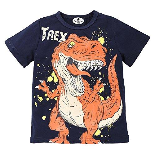 Alwayswin Kinder Junge Ärmellos Dinosaurier Weste Brief Drucken Oben Top T-Shirt Kleidung Cartoon Schwarz Top Oberteil Mode Cool Sommerkleidung Freizeit Sport-T-Shirt im Freien