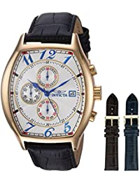 INVICTA  14330 - Reloj de cuarzo para hombre, con correa de cuero, color negro