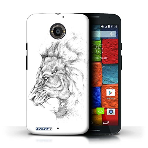 Kobalt® Imprimé Etui / Coque pour Motorola Moto X (2014) / Léopard conception / Série Dessin Croquis Lion