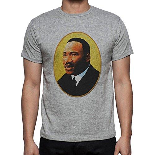 Martin L King Realistic Pic Herren T-Shirt Grau
