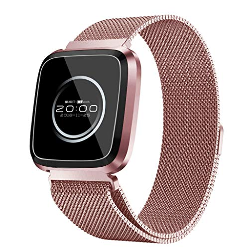 Andouy Fitness Tracker, Orologio Fitness Braccialetto Cardiofrequenzimetro da Polso Pressione Sanguigna Smartwatch GPS Contapassi Impermeabile Donna Uomo Bambini Sport Smart Watch Pedometro