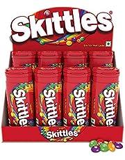 Skittles Bite-Size Fruit Candies Tube, Original PET Bottle, 268 g with Skittles Tubes, Pack of 8