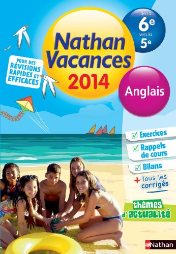 Nathan Vacances Anglais - De la 6è vers la 5è