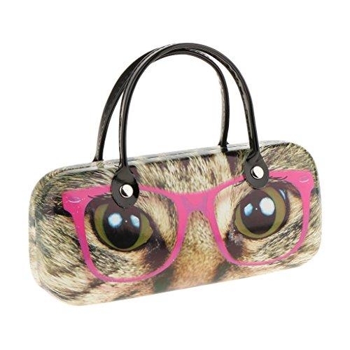 Sharplace Brillenetui Brillenbox Sonnenbrillen Box Hartschalen Etui Hardcase, schöne Farben Auswählbar Handtasche Design, tragbar - Katze Brille