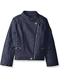 Urban Republic Girls' Ur Faux Leather Jacket