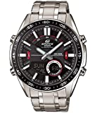 Edifice Herren Analog-Digital Quarz Uhr mit Edelstahl Armband EFV-C100D-1AVEF