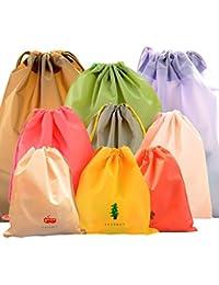 CHRISLZ wasserdichte Kleidung Storage Bag 3 unterschiedlicher Größe 9 PCS Travel Bag Tunnelzug Taschen schmutzig Tasche Cord Tasche Schuhe Aufbewahrungstasche