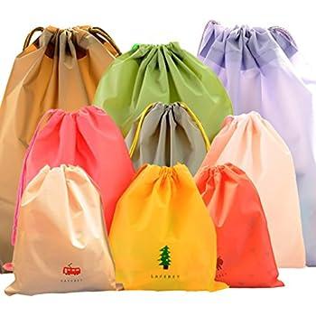 LZYMSZ Wasserdichte Kleidung Storage Bag 3 unterschiedlicher Größe 9 PCS Travel Bag Tunnelzug Taschen schmutzig Tasche Cord Tasche Schuhe