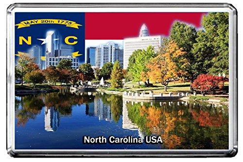 0195 NORTH CAROLINA KÜHLSCHRANKMAGNET USA LANDMARKS, USA ATTRACTIONS REFRIGERATOR MAGNET