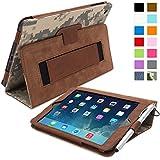Snugg iPad Hülle - Smart Cover mit Aufsteller, elastischer Handschlaufe, Stylus-Halterung und Premium Nubuck Innenfutter Braun Digital Camo iPad Mini & iPad Mini 2 Executive