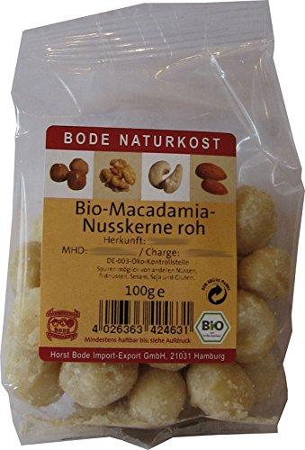 Bode Macadamia-Nusskerne 100g Bio Nüsse, 2er Pack (2 x 100 g)