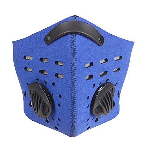 Eizur antipolvere PM2.5 Maschera di protezione mezza con Filtro aria a carbone Bici Bicicletta antinebbia e haze antivento Viso Respiratore Maschera Balaclava per Ciclismo Snowboards Moto Sport