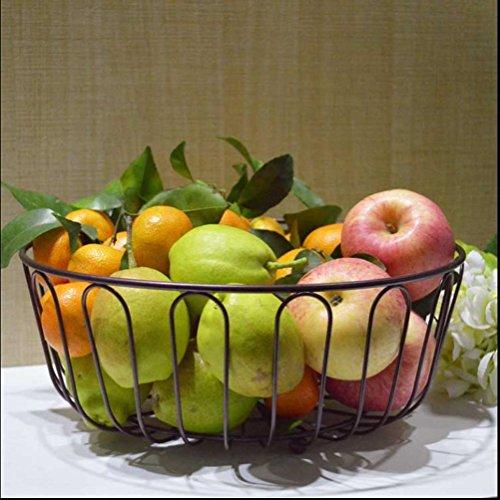 ZYT Heimische Wohnzimmer Obst Schale Obst Schüssel große Kapazität Korb getrocknete Früchte Platte Mode kreative Küche Lagerung Rack Platzierung . bronze (Früchte Geschenk-körbe, Getrocknete)