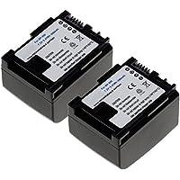 2x CELLONIC® Batería premium para Canon LEGRIA HF G25, G10, HF20, HF S20 | VIXIA HF G20 HF S30 HF200 HG20 (890mAh) BP-808, -809, -819, -827 bateria de repuesto, pila reemplazo, sustitución