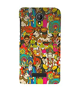 printtech Indian Gods Culture Back Case Cover for Micromax Canvas Spark Q380