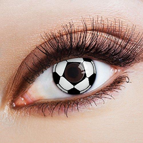 aricona Farblinsen Farbige Kontaktlinse Football is coming Home  -Deckende Jahreslinsen für dunkle und helle Augenfarben ohne Stärke,Farblinsen für Karneval, Motto-Partys und Halloween Kostüme