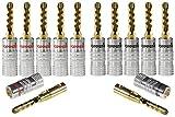 Poppstar 12x High End Hohl Bananenstecker, Bananas für Lautsprecherkabel (bis 6mm²), Lautsprecher, Receiver, 24k vergoldete Kontakte (1x schwarz, 1x rot)