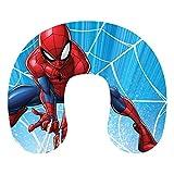 Spiderman pour Enfants Coussin de Cou bleu Oreiller de Voyage, Vacances, Voiture, Oreiller de Voyage Spiderman Oreiller Cervical, Marvel