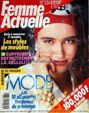 FEMME ACTUELLE [No 334] du 18/02/1991 - ...