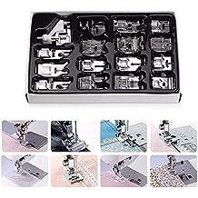 Juego de prensatelas para máquina de coser doméstica, 16 piezas, juego de patas de