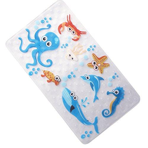 WARRAH Anti-slip bath mat for children - Anti-slip - Shower mats - Anti-slip bath mat for babies, children Blue Octopus