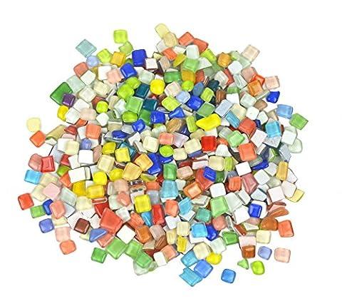 Luokado Classico Carreaux de mosaïque Assortiment de couleurs et formes pour art Craft et Home Decorations-1kg/1kilogram