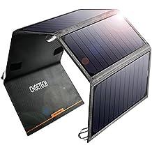 CHOETECH 24W Solar Ladegerät mit 2 USB Ports Wasserdicht faltbares Solarpanel für iPhone, iPad, Samsung, Lautsprecher und andere Geräte