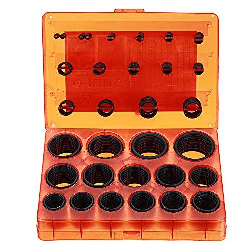 Wchaoen 382 Stücke Universal O-Ring Sortiment Kit Metric Gummi O-Ring Washer Automotive Aufbewahrungskoffer ORing Set Werkzeugzubehör -