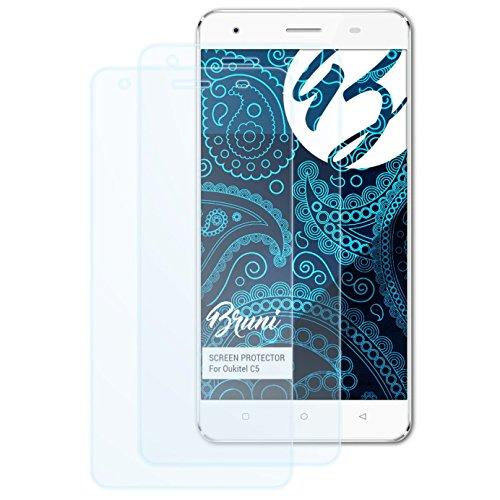Bruni Schutzfolie für Oukitel C5 Folie, glasklare Bildschirmschutzfolie (2X)