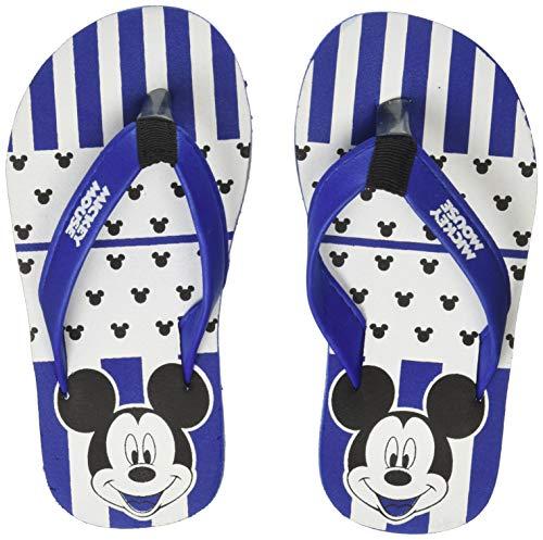 Mickey Boy's Blue Flip-Flops-7 Kids UK/India (24 EU) (MMPBFF0851)