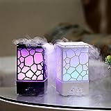 Humidificador, Aroma Difusor, difusor ultrasónico Cool Mist humidificador con 7colores LED, Negro