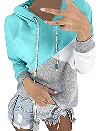 EUR 8,90 · ❤ Sudadera con Capucha de Color Empalme, Mujer Otoño Sudadera con Capucha de Manga