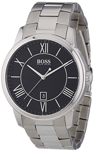 Hugo Boss Gents Watch XL Analogue Display and Silver Stainless Steel Classic ROUND 1512977