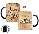 #9: Morphing Mugs Harry Potter Hogwarts Magical Marauder's Map Heat Reveal Ceramic Coffee Mug - 11 Ounce (Parchment Paper Reveal)