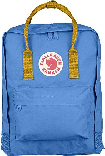 Fjällräven Kånken Polypropylene (PP),Vinylon Blue,Pink backpack - backpacks (Polypropylene (PP), Vinylon, Blue, Pink, Monotone, Unisex, Front pocket, Side pocket, Zipper) Blue, Yellow